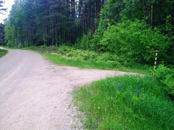 Posūkis į dešinę (link sodybos)